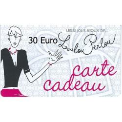 Carte Cadeau N°06-30 Euro