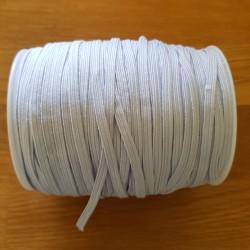 Élastique plat 5 mm Blanc
