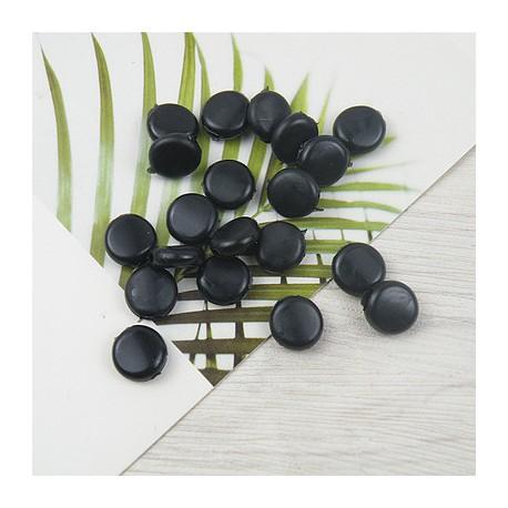 Boucle Réglable Galet Noir x 10 pièces
