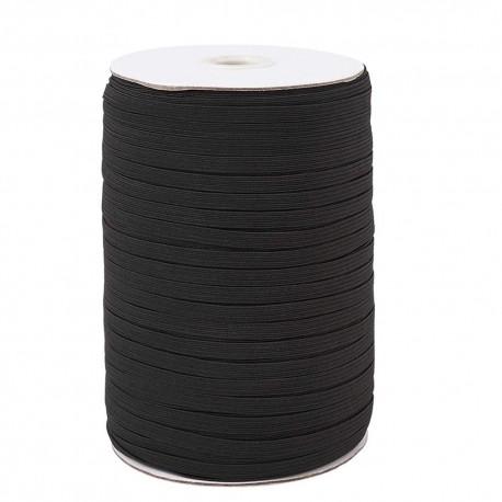 Élastique plat 5 mm noir