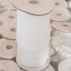 Élastique masque plat 3 mm x 160 m blanc
