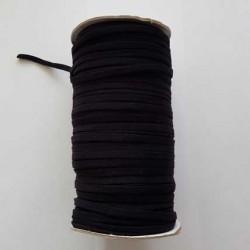 Élastique plat 4 mm noir 100 mètres