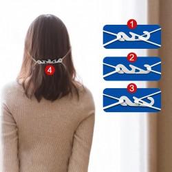 4 attaches elastique protecteur d'oreille réglable blanc
