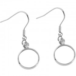 20 supports cabochons boucle d'oreille 25 mm N°06 Argent