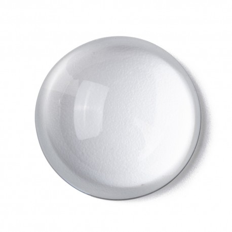 Cabochon Rond 25 mm en verre loupe transparent N°11 standard