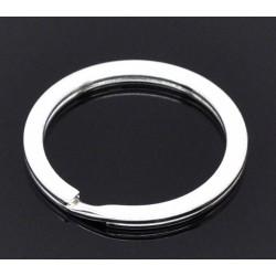 Anneau porte clés forme rond 30 mm