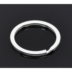 Anneau porte clés forme rond 25 mm