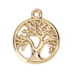 Breloque arbre de vie Doré N°01