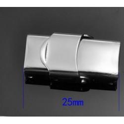 Fermoir clip griffe pour cuir 10 mm de large