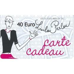 Carte Cadeau N°08-40 Euro